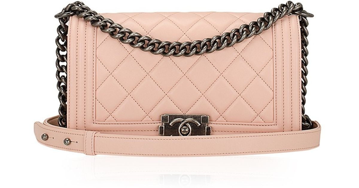 d6da9be3f632 Madison Avenue Couture Chanel Nude Pink Quilted Calfskin Medium Boy Bag in  Pink - Lyst