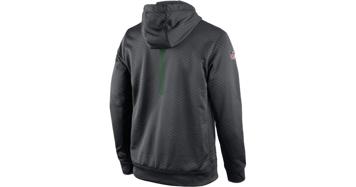 Top Lyst Nike Men\'s New York Jets Sideline Ko Fleece Hoodie in Gray  for sale I4PPtzSO