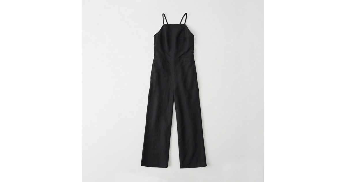 a098fe70c1 Lyst - Abercrombie   Fitch Culotte Jumpsuit in Black