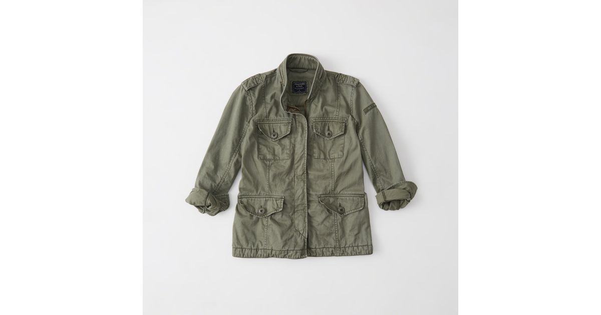 Abercrombie And Fitch Clothing Abercrombie And Fitch Hoodies Abercrombie And Fitch Jackets Abercrombie And Fitch Sweater: Abercrombie & Fitch Military Twill Shirt Jacket Exchange