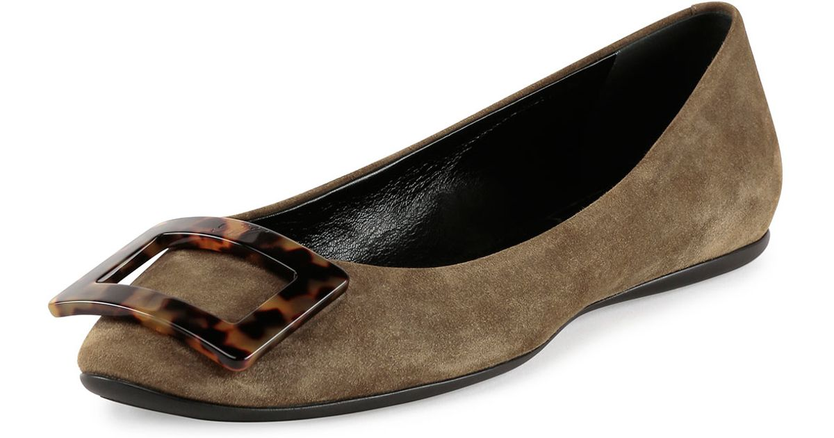 Outlet Big Discount Outlet Countdown Package Roger Vivier Gommette suede ballerinas Free Shipping Find Great Buy Cheap For Sale Clearance Geniue Stockist Ksx98A