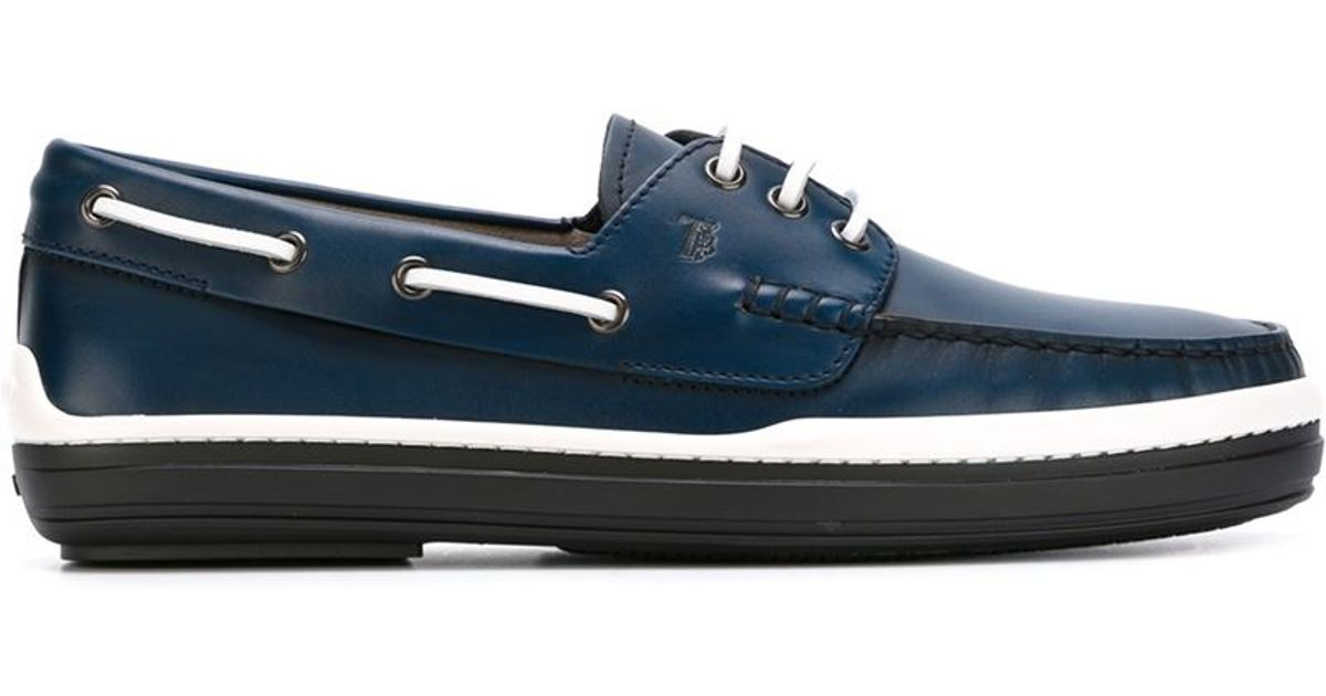 Tod S Rubber Sole Deck Shoes In Blue For Men Save 51 Lyst