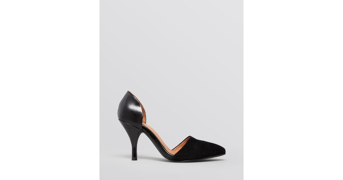 clearance factory outlet brand new unisex online Jeffrey Campbell Leather Peep-Toe Pumps buy cheap pre order VmSoWBkZ