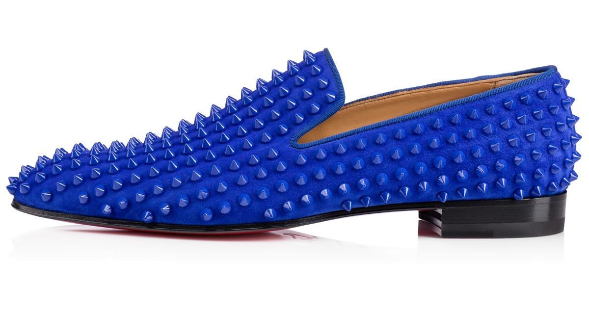 224790a3602d Lyst - Christian Louboutin Dandelion Spikes Veau Velours in Blue for Men