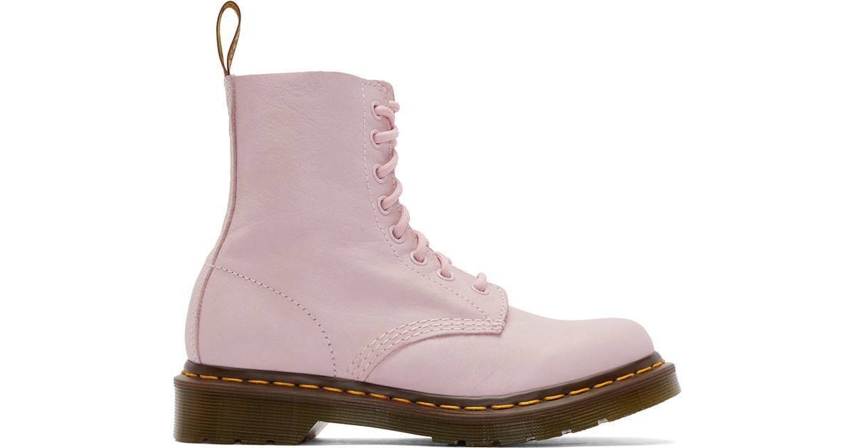 936d1a7b247 Dr. Martens Pink Eight-eye Pascal Boots in Pink - Lyst