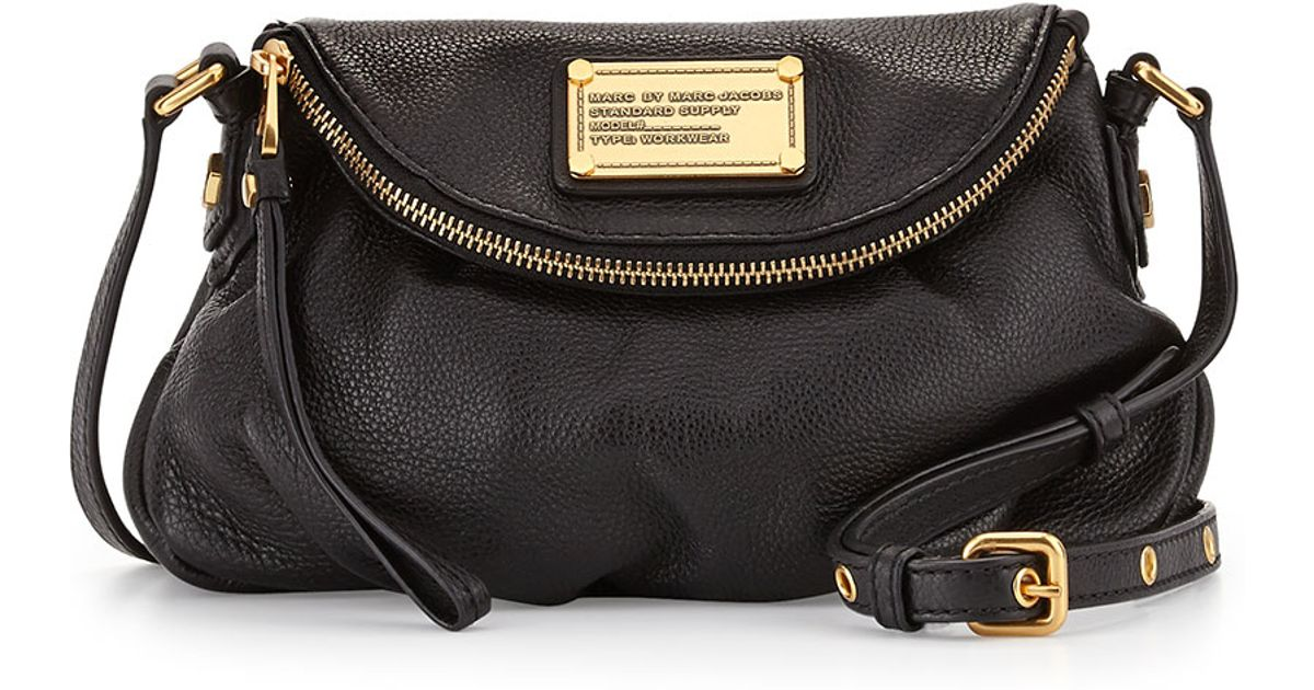Lyst Marc By Jacobs Clic Q Natasha Mini Crossbody Bag In Black