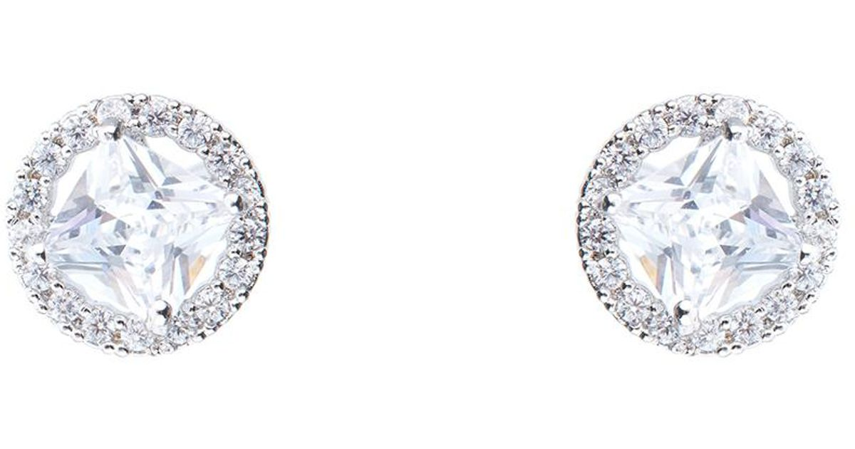 online stud plated cut buy cz earrings fancy vorra round platinum product fashion