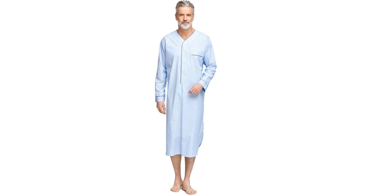 Lyst - Brooks Brothers Hairline Stripe Nightshirt in Blue for Men 08848fb2a