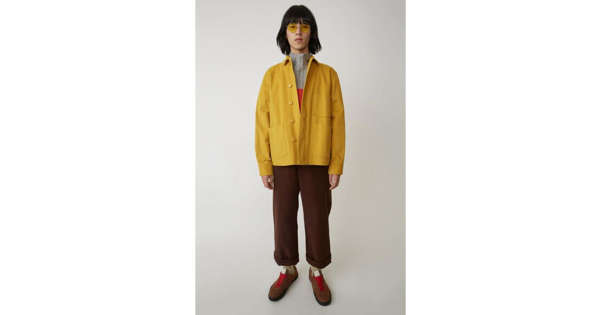 d7f0ad68d8 Acne Studios Utility Jacket mustard Yellow in Yellow - Lyst