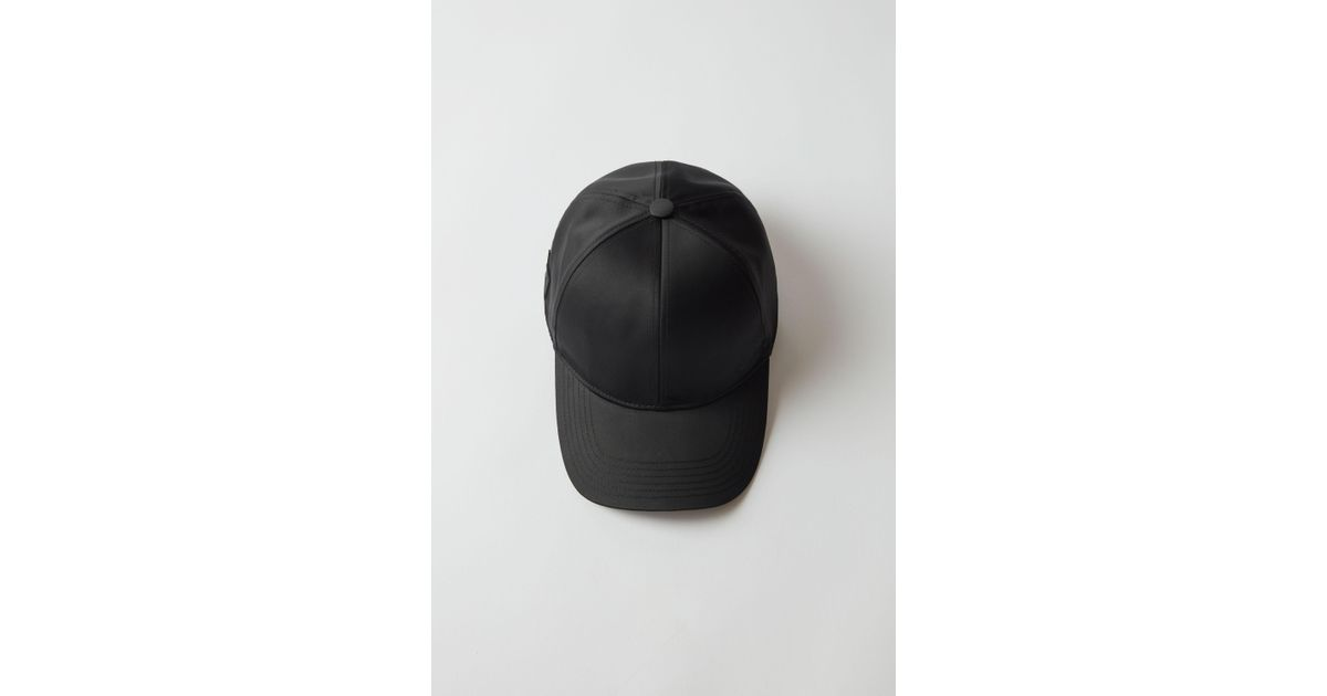 fc11d57db74 Lyst - Acne Studios Camp Matt Face Black Baseball Cap in Black for Men