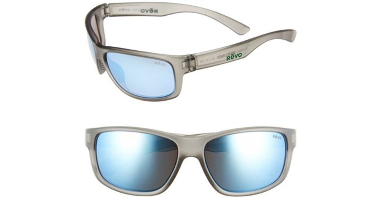 beda6a37b3 Lyst - Revo  baseliner  61mm Polarized Sunglasses - Crystal Grey  Blue  Water in Black for Men