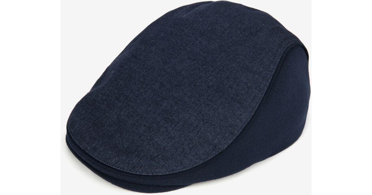 2910bcb264f Lyst - Ted Baker Herringbone Flat Cap in Blue for Men