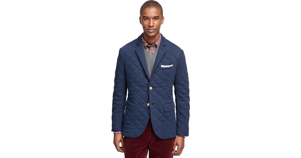 Lyst - Brooks brothers Two-button Quilted Blazer in Blue : quilted blazer - Adamdwight.com