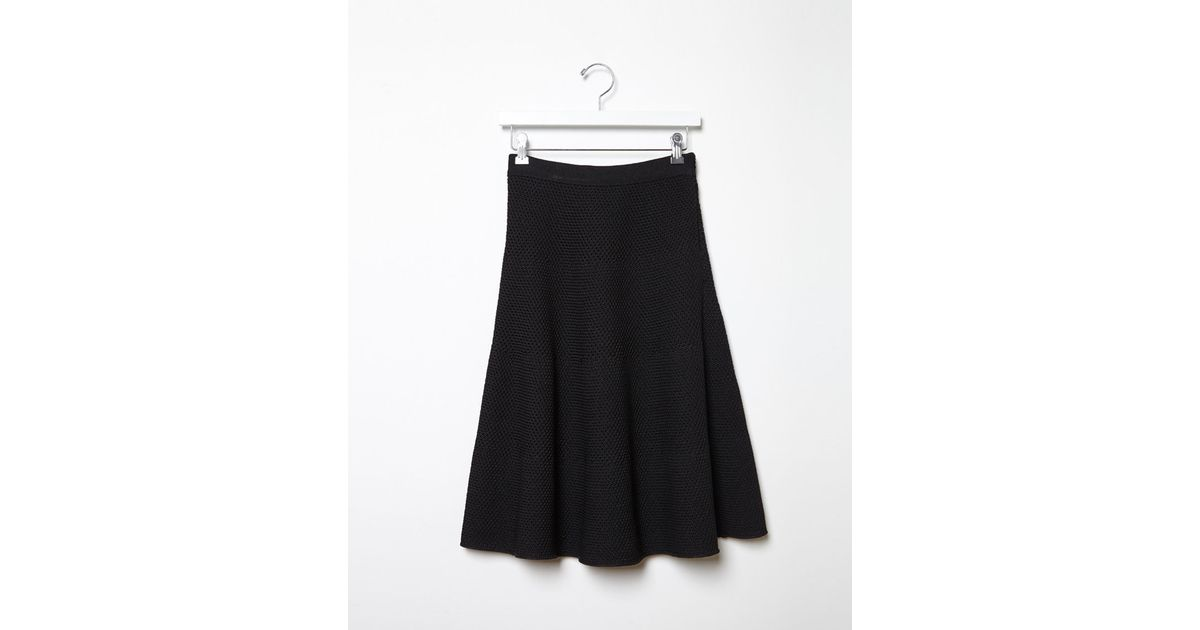 proenza schouler knit a line skirt in black save 50 lyst
