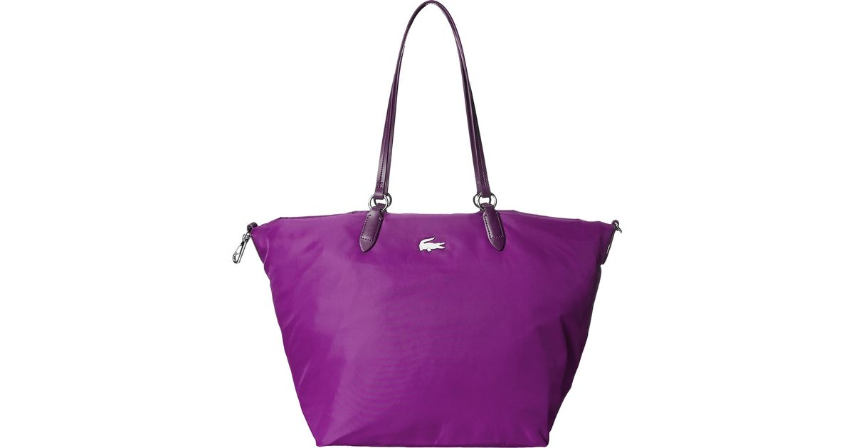 5afd2ec5b2fe Lyst - Lacoste Izzie Medium Carry All Bag in Purple