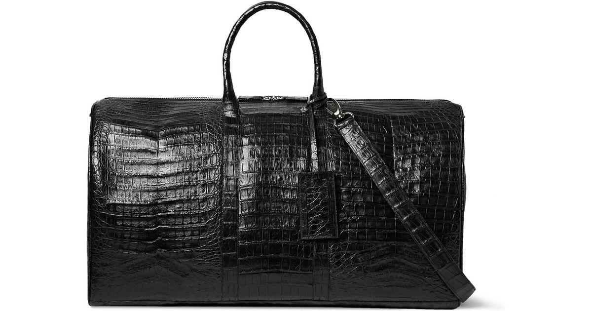 953b79e358 Lyst - Santiago Gonzalez Crocodile Holdall Bag in Black for Men