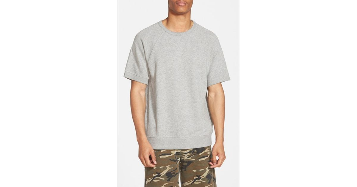 Obey 'Cypress' Short Sleeve Crewneck Sweatshirt in Gray for Men | Lyst