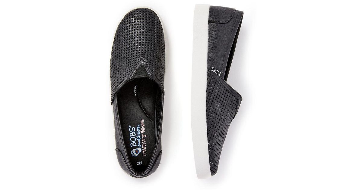 6dbae044cae Lyst - Addition Elle Wide-width Perforated Slip On Shoes - Bobs From  Skechers in Black