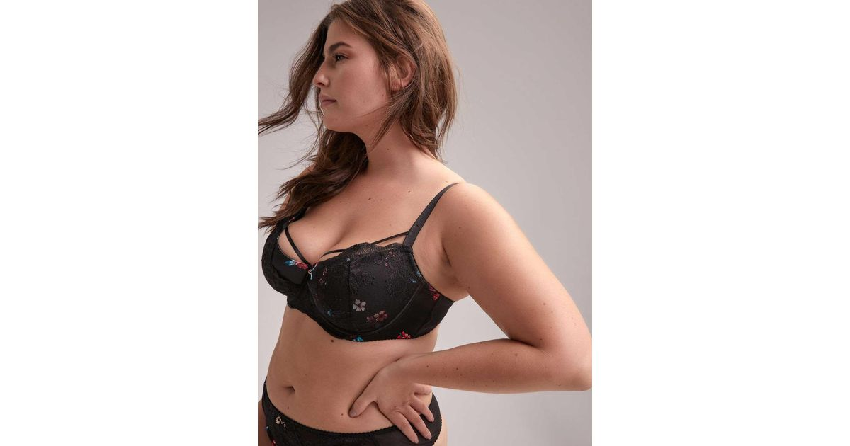 9777d147eaa Addition Elle Printed Diva Demi Cup Bra With Lace - Ashley Graham - Lyst