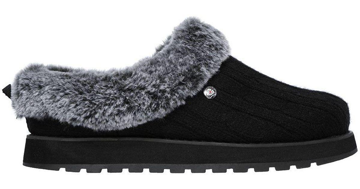 c9fcf531da1 Lyst - Addition Elle Online Only - Wide Width Slip On Faux-fur Slipper -  Bobs By Skechers in Black
