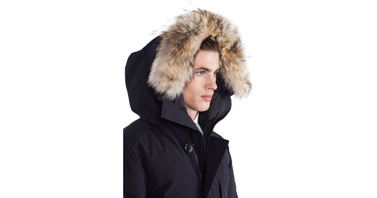Canada Goose victoria parka outlet shop - Canada goose Chateau Parka With Coyote Fur Trim in Blue for Men ...
