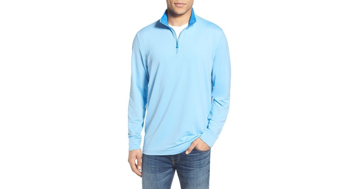 Lyst - Vineyard Vines  performance  Moisture Wicking Quarter Zip Pullover  in Blue for Men cefd395f5b38
