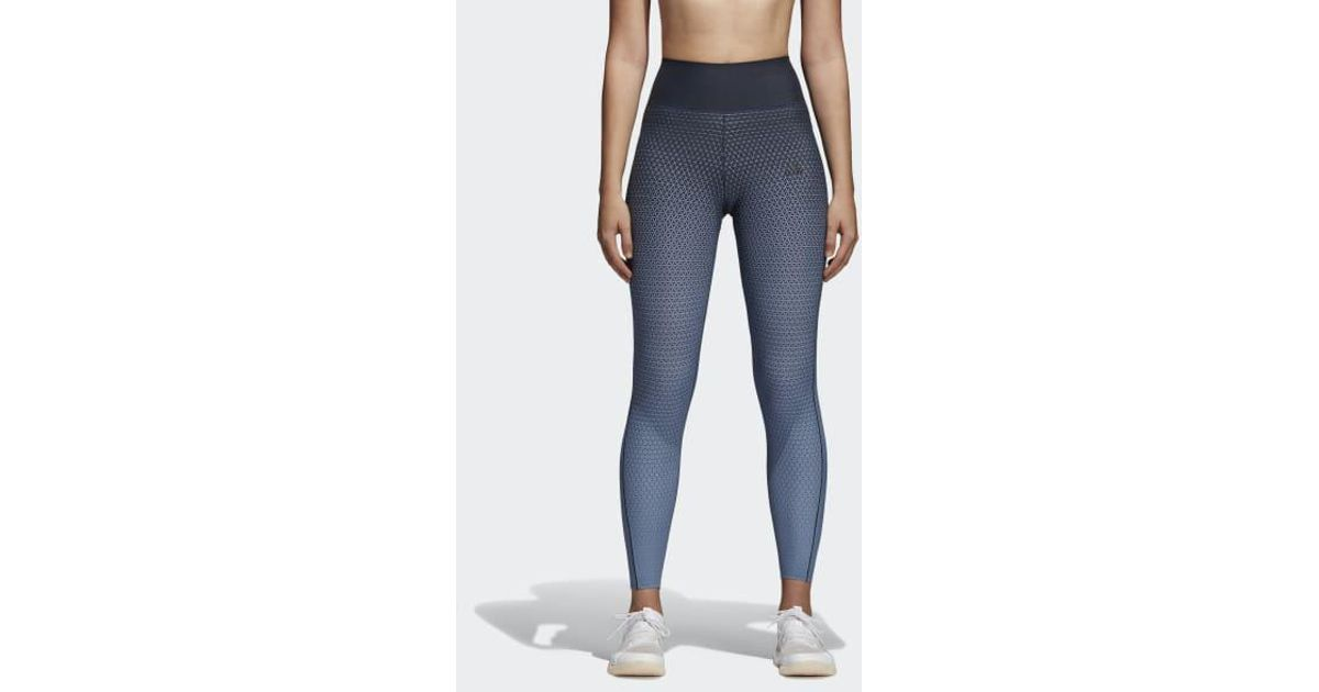 8b1dc4d8fb25e adidas Ultimate Miracle Sculpt Tights in Blue - Lyst
