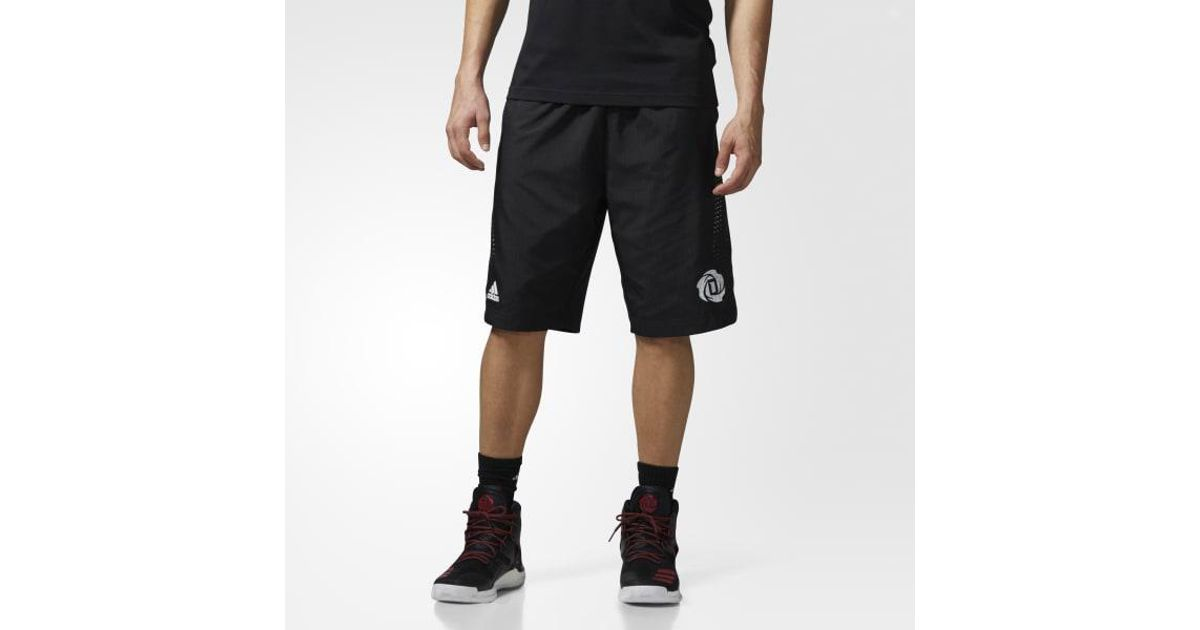 3d432a4eade5 Lyst - adidas D Rose Shorts in Black for Men