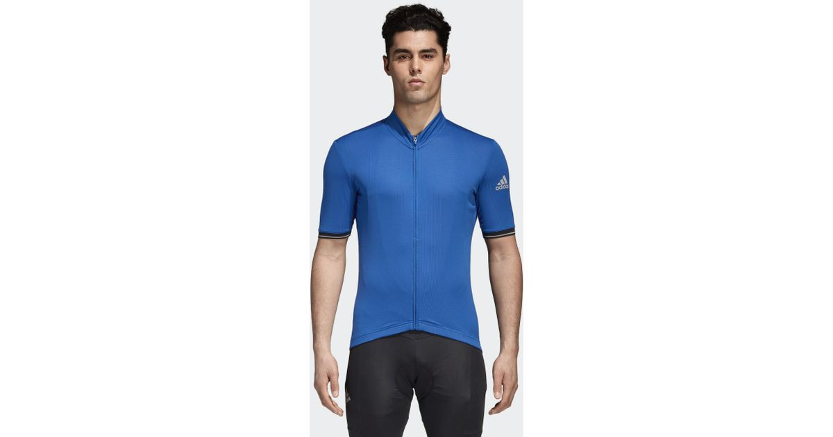 adidas Climachill Cycling Jersey in Blue for Men - Lyst 9d11e1d97