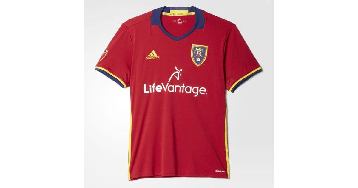 sale retailer b65b5 12fa0 Adidas - Red Real Salt Lake Home Replica Jersey for Men - Lyst