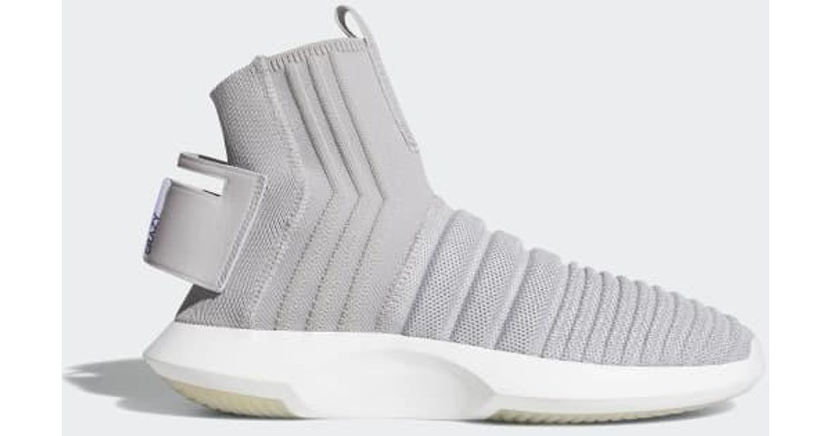san francisco 36ab3 43c88 Lyst - Adidas Crazy 1 Adv Sock Primeknit Shoes in Gray for Men