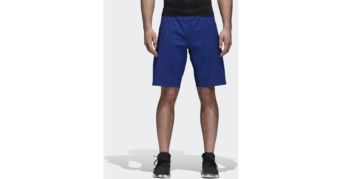 Adidas Blue 4krft 2 in 1 Shorts for men