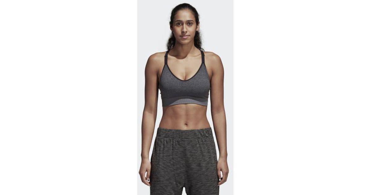 82978b065d Lyst - Adidas All Me Seamless Heather Bra in Gray