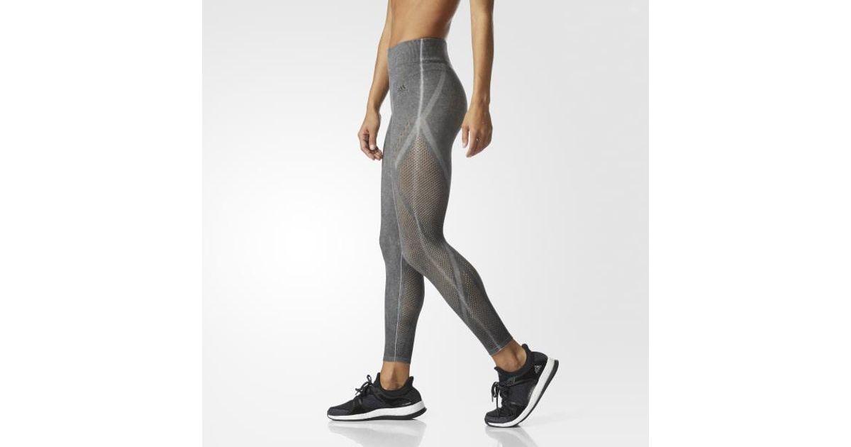 fc91f88d7817c adidas Wanderflow Warp Knit Tights in Black - Lyst