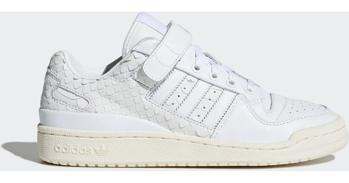 buy popular e855d b6169 Lyst - adidas Forum Low Shoes in White