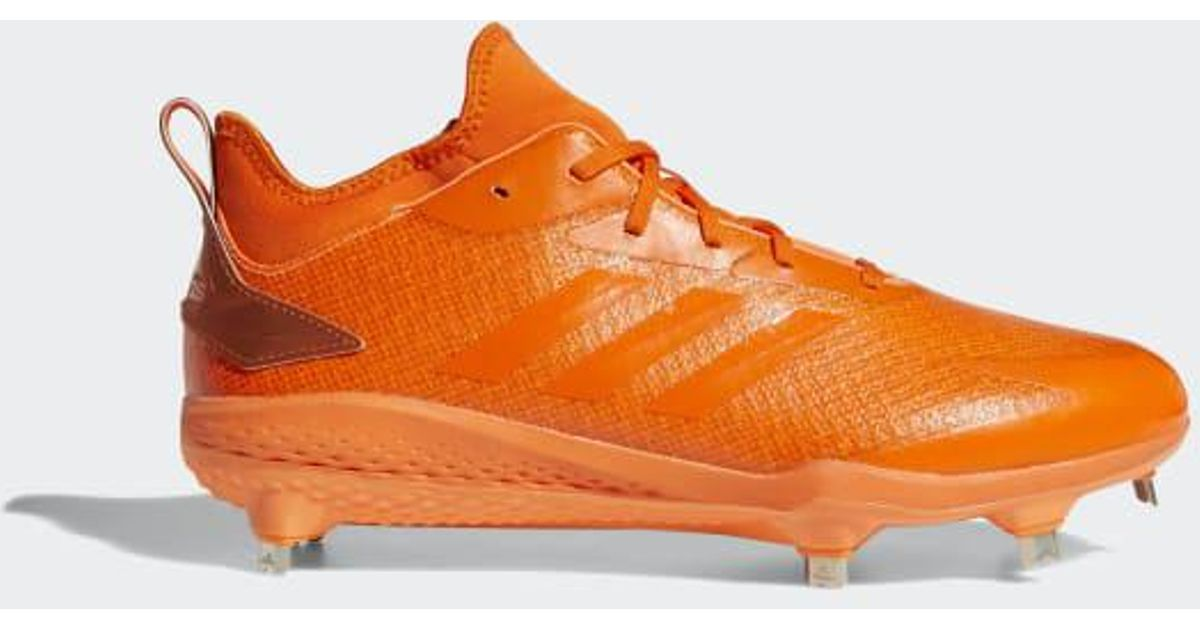 0499092499c1 adidas Adizero Afterburner V Dipped Cleats in Orange for Men - Lyst