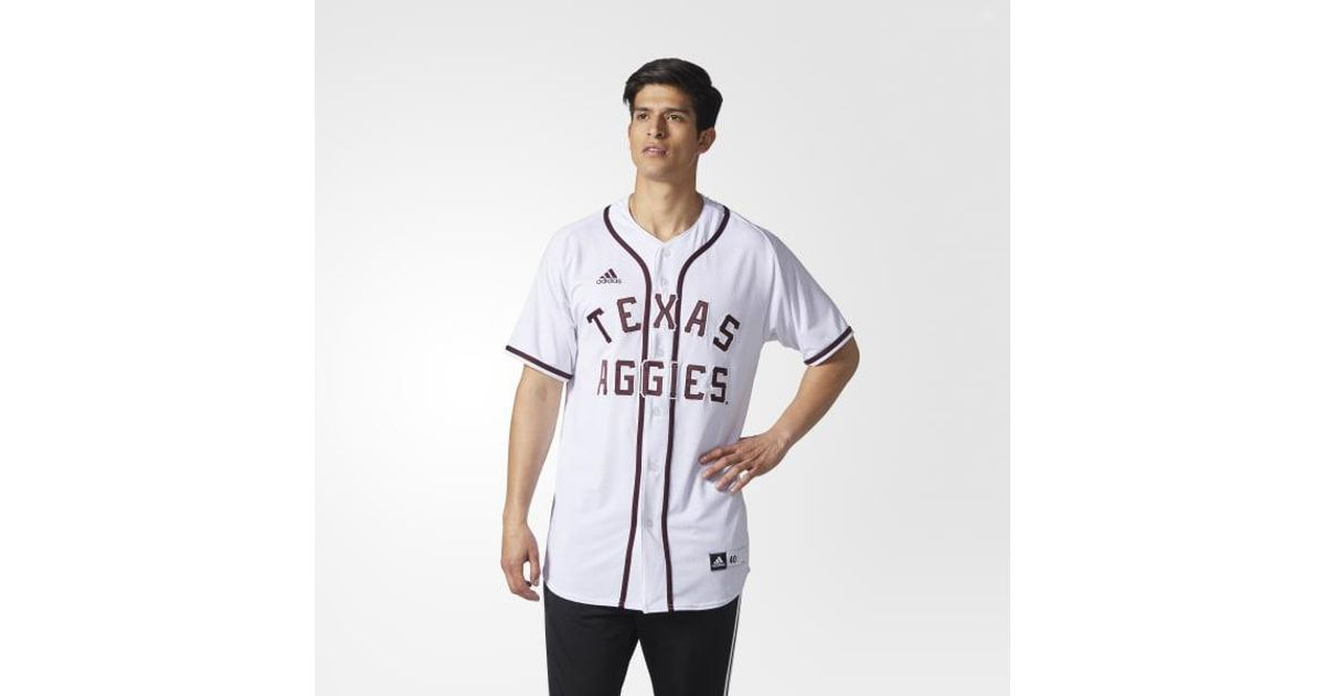 76f47f7df17 adidas Aggies Authentic Baseball Jersey in White for Men - Lyst