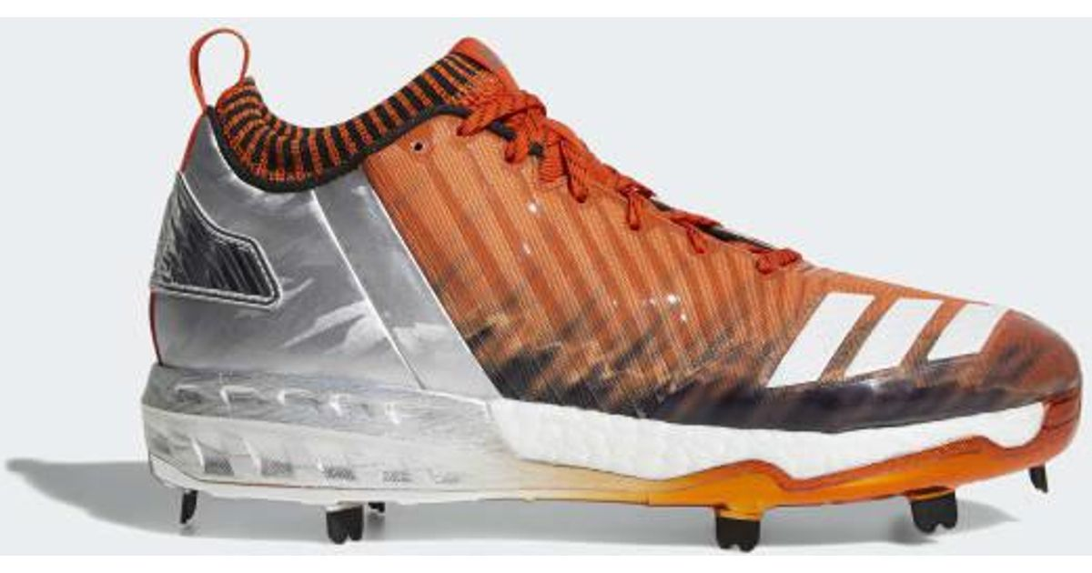 89e577531aee adidas Boost Icon 3 Faded Cleats in Orange for Men - Lyst