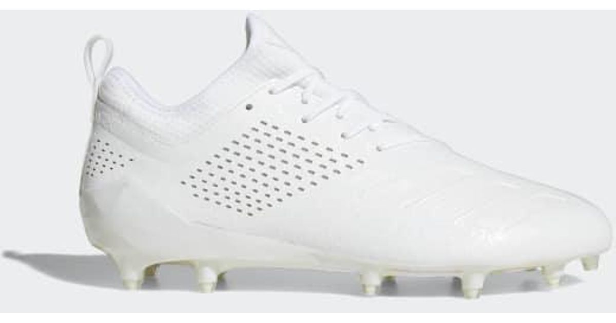 sale retailer 90cb6 7252d Lyst - adidas Adizero 5-star 7.0 Adimoji Cleats in White for
