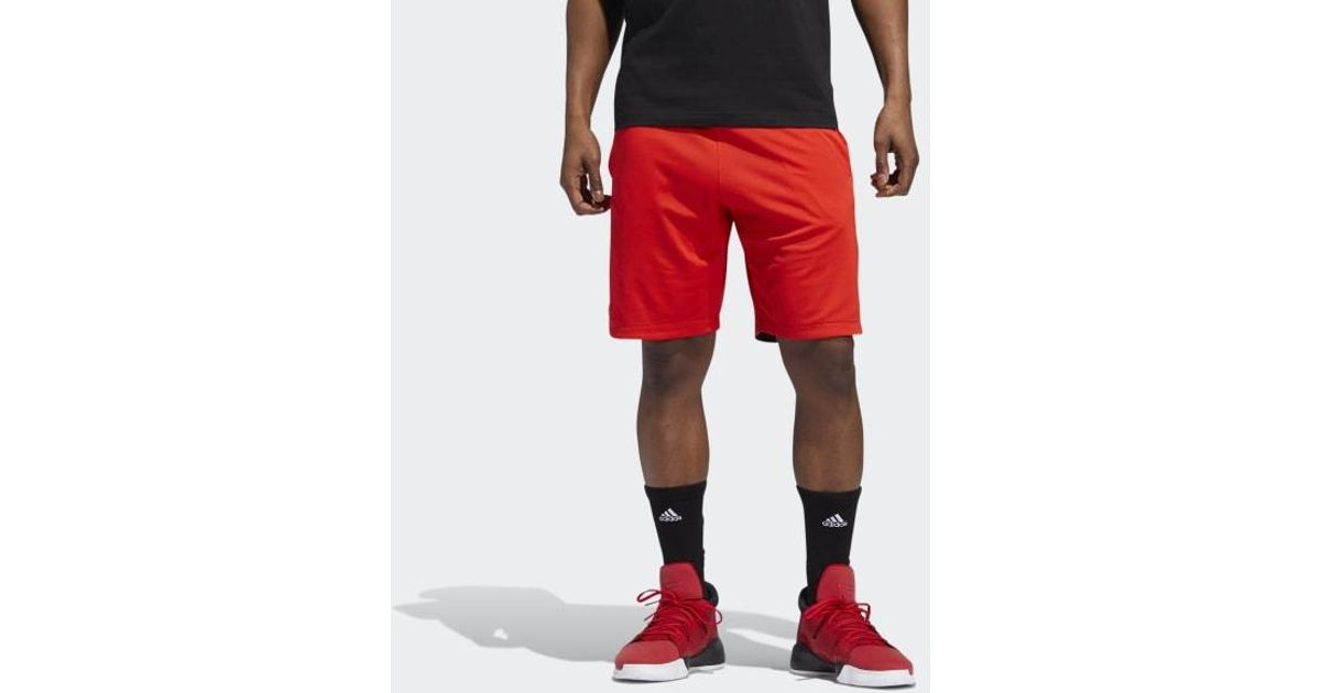 b8bea4ca66 Adidas - Red Accelerate 3-stripes Shorts for Men - Lyst