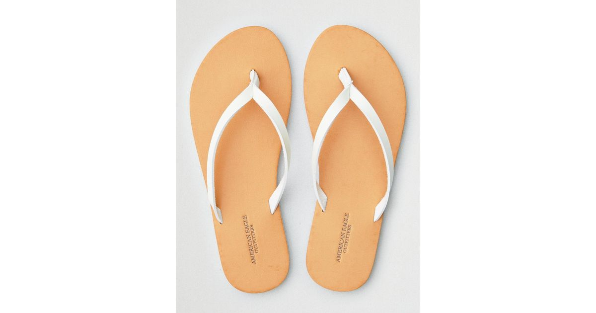dc0864ccd44872 Lyst - American Eagle Simple Thong Flip Flop in White