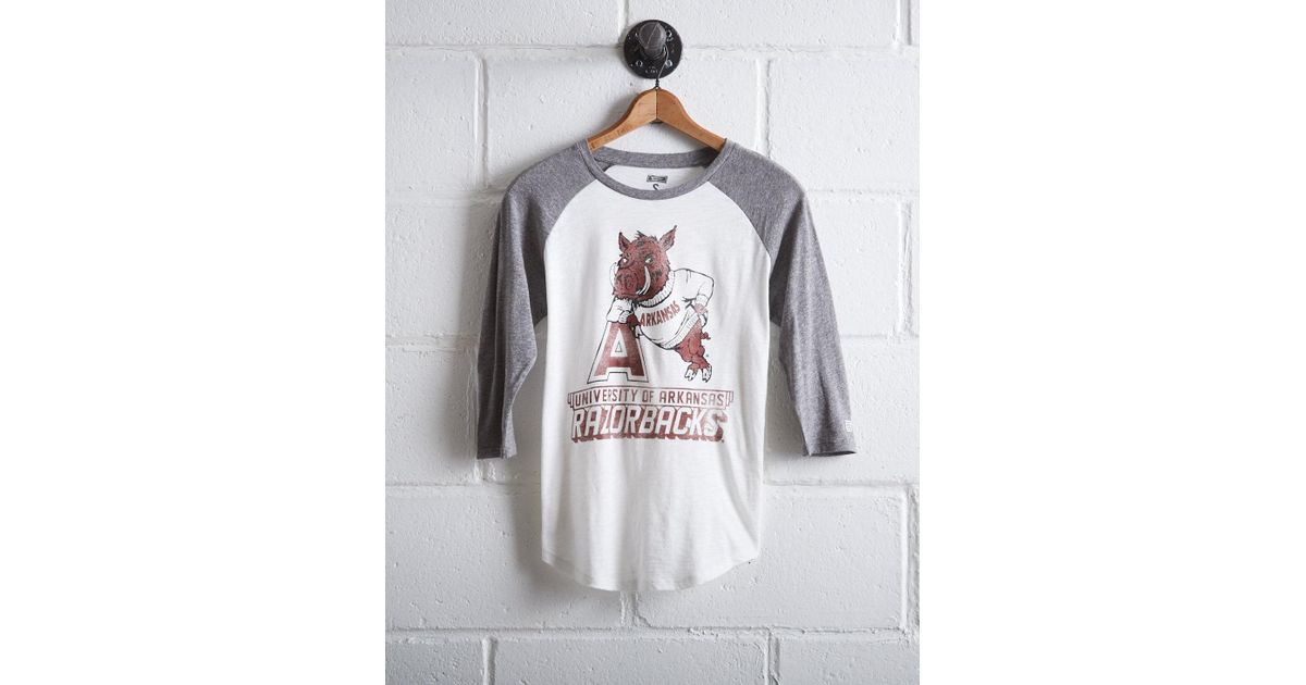 Tailgate - White Women's Arkansas Baseball Shirt - Lyst