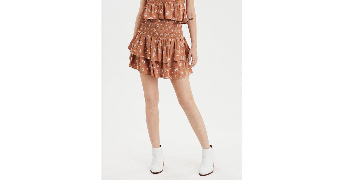 44c7d4bd0 American Eagle Ae High-waisted Tiered Ruffle Mini Skirt - Lyst
