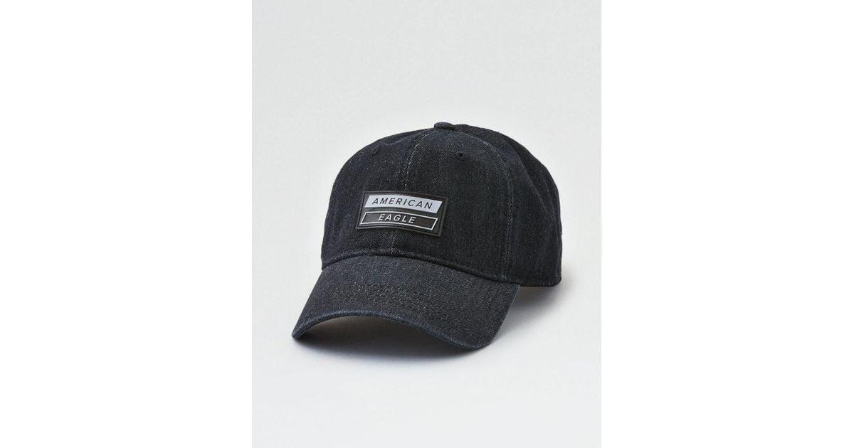 Lyst - American Eagle Ae Black Denim Strapback Hat in Black for Men eaa3f537bf81