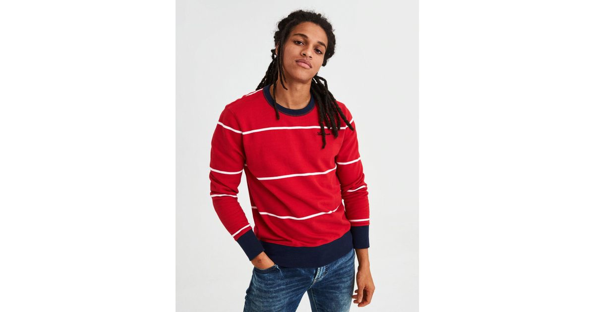 621d45af0 Lyst - American Eagle Ae Crewneck Pullover Sweatshirt in Red for Men