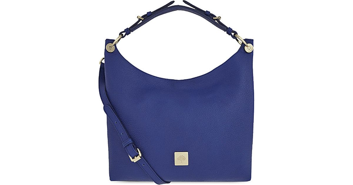 9a1b0f7158c7 Mulberry Freya Small Leather Hobo Bag in Blue - Lyst