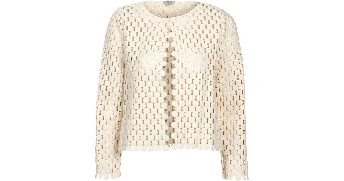 Intropia Crochet Jacket In White Lyst
