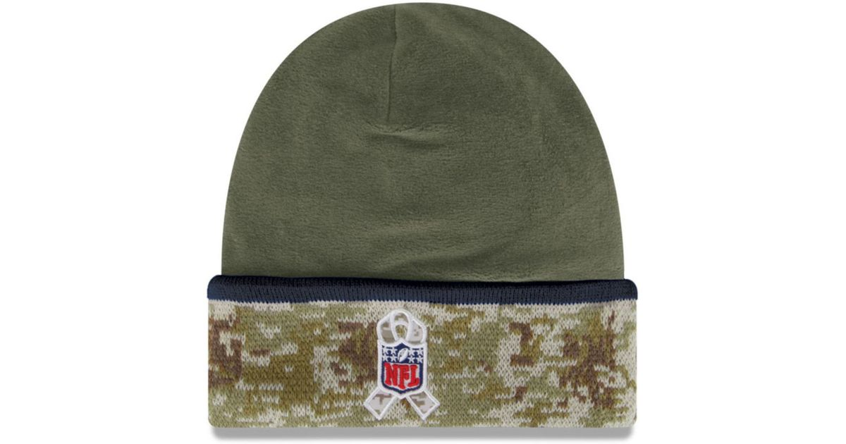 Lyst - KTZ Dallas Cowboys Salute To Service Knit Hat in Green for Men 20266634f