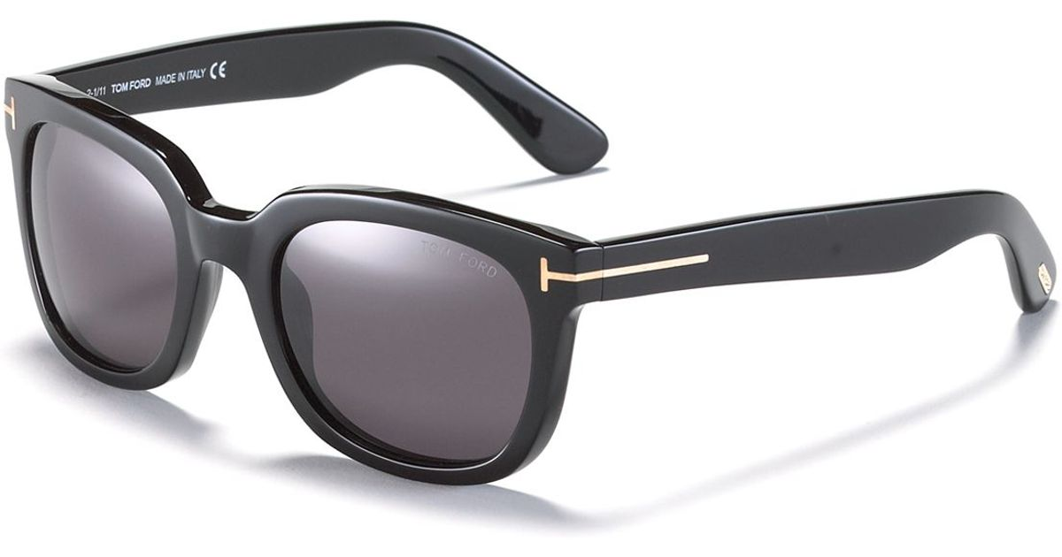Tom ford Campbell Wayfarer Sunglasses in Black | Lyst