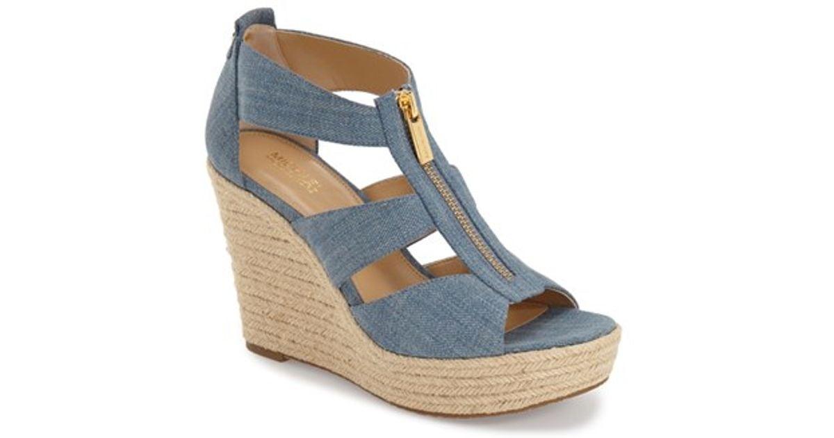 80134c053064 MICHAEL Michael Kors 'damita' Wedge Sandal in Blue - Lyst